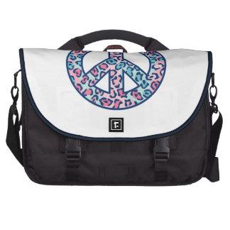 Leopard Peace Symbol Computer Bag