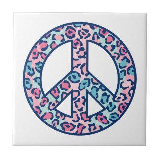 Leopard Peace Symbol Tile