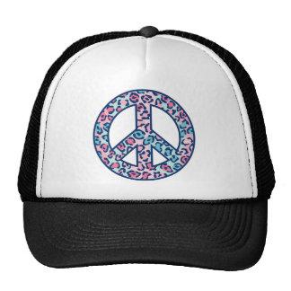 Leopard Peace Trucker Hat