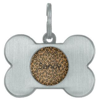 Leopard Pet Tag