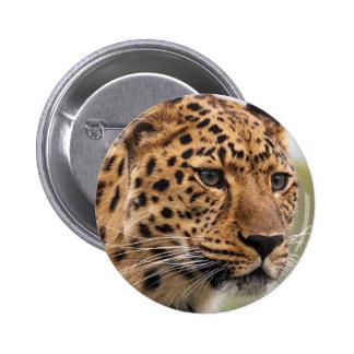 Leopard Photo 2 Inch Round Button