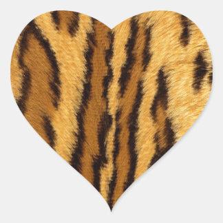 Leopard Pint exotic animal Heart Sticker