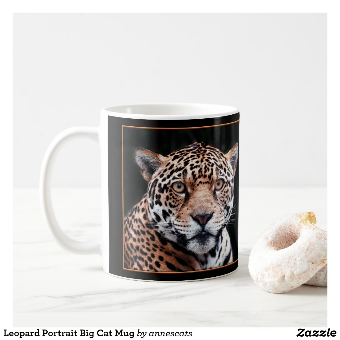 Leopard Portrait Big Cat Mug