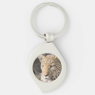 Leopard portrait keychain