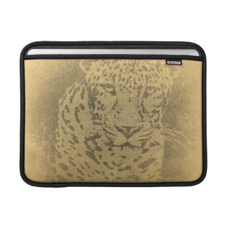 Leopard Portrait Vintage Macbook Sleeves