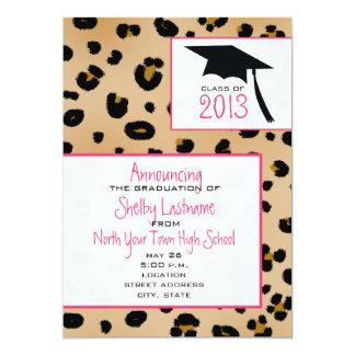 Leopard Print 2013 Graduation Announcement