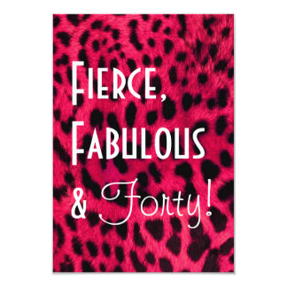 Leopard Print 40th Birthday Invitation
