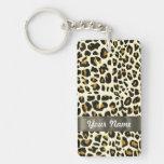 leopard print acrylic keychain