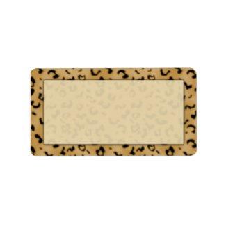 Leopard Print Address Labels label