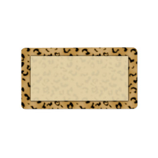 Leopard Print Address Labels