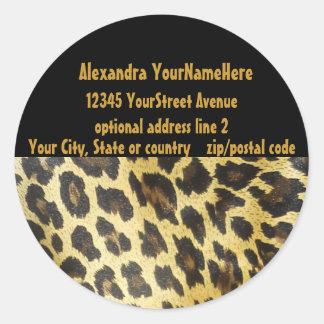 Leopard Print Address Labels Sticker