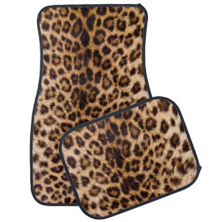 Leopard Print African Cat Prints Car Mat
