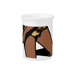 leopard print african pin up beverage pitchers