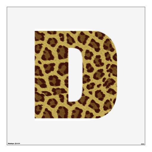 Wall decor animal print : Leopard print alphabet wall decor zazzle