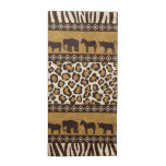 Leopard Print and African Animals Cloth Napkins