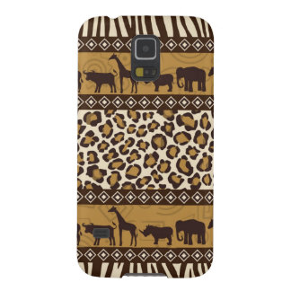 Leopard Print and African Animals Galaxy S5 Cover