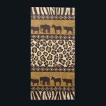 "Leopard Print and African Animals Napkin<br><div class=""desc"">It&#39;s a jungle out there so go wild with this African theme design featuring a bold leopard print and wild animals in shades of tan and brown.</div>"