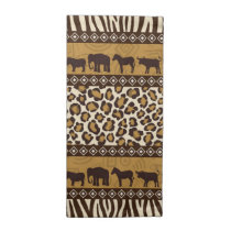 Leopard Print and African Animals Napkin