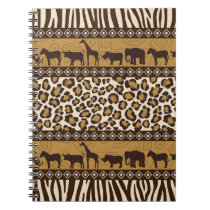 Leopard Print and African Animals Notebook