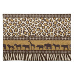 Leopard Print and African Animals Placemats
