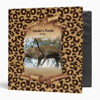 Leopard Print and Banner - Customize Vinyl Binders