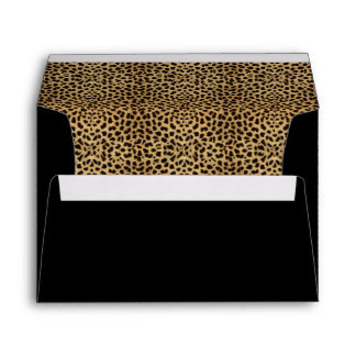 Leopard Print and Black Envelope