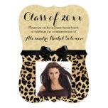 "Leopard Print and Bow Graduation/Party Invitation 5"" X 7"" Invitation Card"