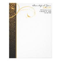 Leopard Print and Swirl Letterhead