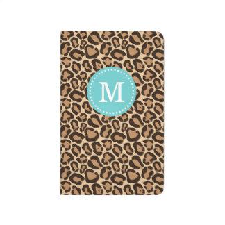 Leopard Print and Turquoise Custom Monogram Journal
