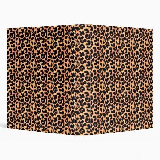 Leopard Print, Animal Print Vinyl Binders