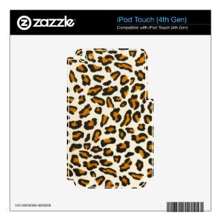 Leopard print animal skin iPod touch 4G skin