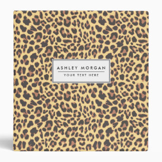 Leopard Print Animal Skin Pattern 3 Ring Binder