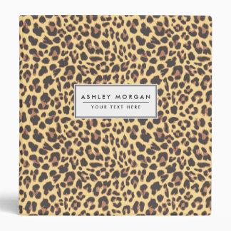 Leopard Print Animal Skin Pattern Vinyl Binder