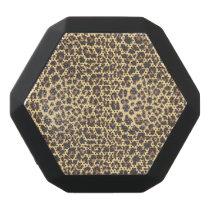 Leopard Print Animal Skin Pattern Black Bluetooth Speaker
