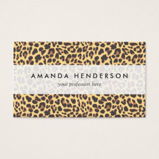 Leopard Print Animal Skin Pattern Business Card