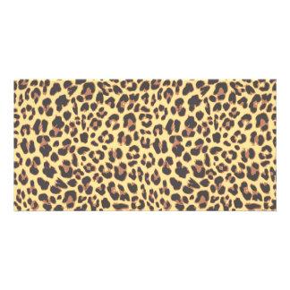 Leopard Print Animal Skin Pattern Card