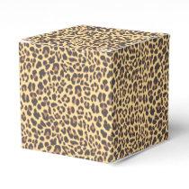 Leopard Print Animal Skin Pattern Favor Box