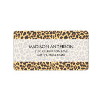Leopard Print Animal Skin Pattern Label