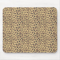 Leopard Print Animal Skin Pattern Mouse Pad