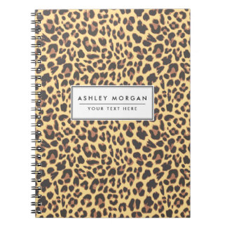 Leopard Print Animal Skin Pattern Note Books