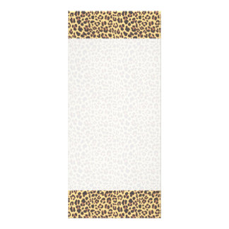 Leopard Print Animal Skin Pattern Full Color Rack Card