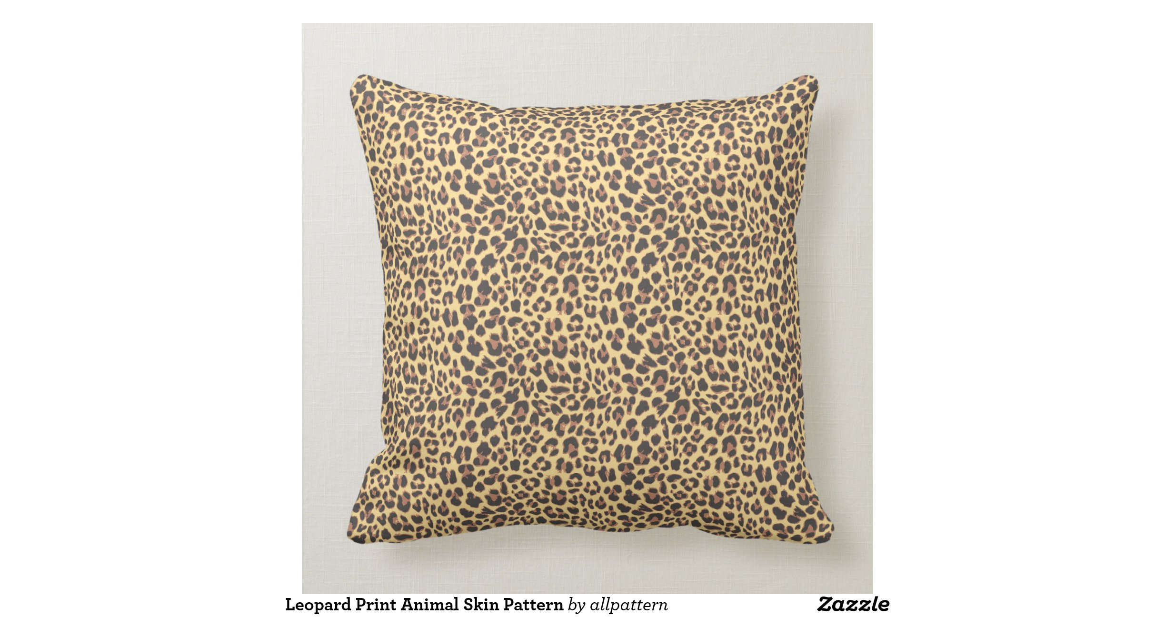 Real Animal Skin Pillows : Leopard Print Animal Skin Pattern Throw Pillow Zazzle
