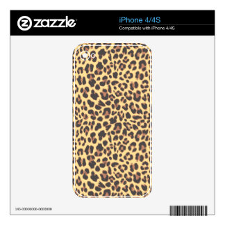 Leopard Print Animal Skin Patterns Decal For The iPhone 4S