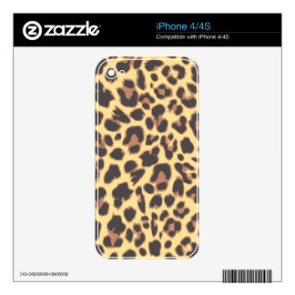 Leopard Print Animal Skin Patterns Skins For iPhone 4S