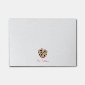 Leopard Print Apple Teacher Post-it® Notes