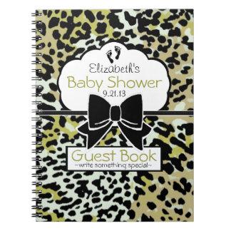 Leopard Print Baby Shower Guest Book- Spiral Notebook