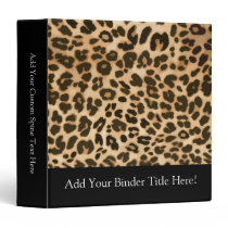 Leopard Print Background 3 Ring Binder
