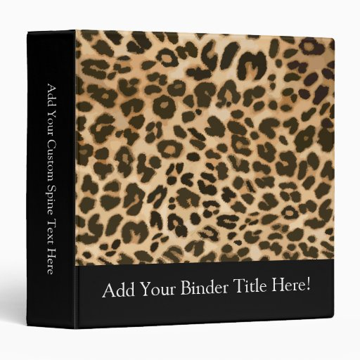 Leopard Print Background Binder
