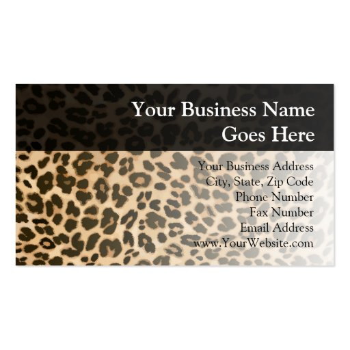 Leopard Print Background Double Sided Standard Business