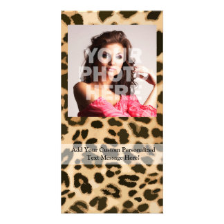 Leopard Print Background Card